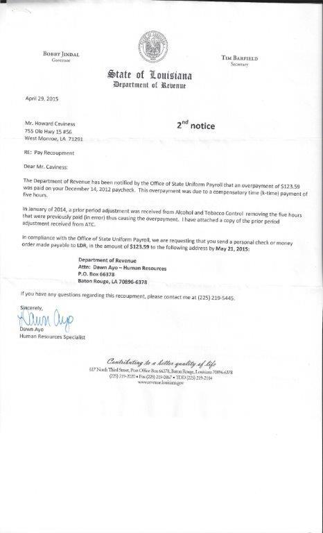 LDR letter