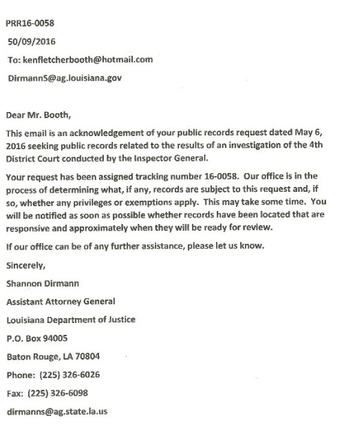 AG RESPONSE TO BOOTH
